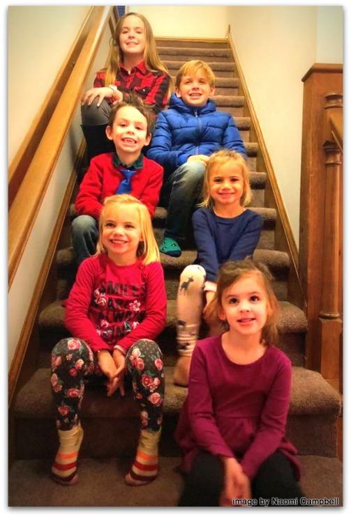 Hayley (12), Hudson, David, Hannah-Mae,Harper, Beks