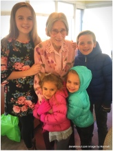 with great-grandma Grace