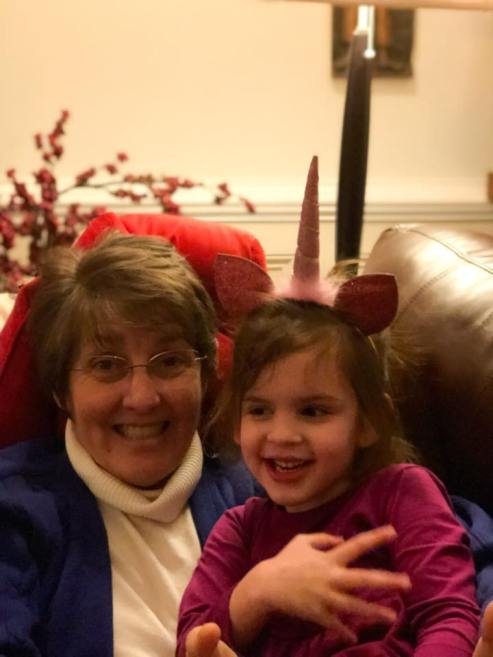 Rebekah with the unicorn girl