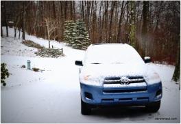 snowed in Sunday morning