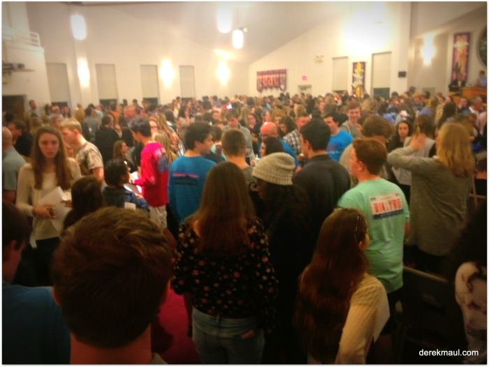Tragedy, pain, and the beauty of love (the evening 500 teens showed up at church topray)