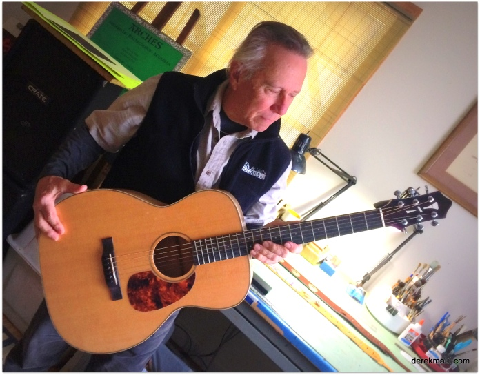 Hans made this guitar from scratch