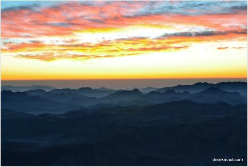 Sunrise from Mt Sinai