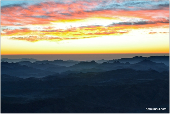 Sunrise from Mt Sinai