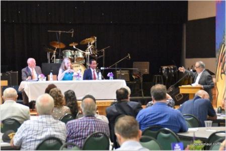 panelists (left to right) Rep. Darren Jackson, NC General Assembly; Jennifer Copeland, Exec. Director NC Council of Churches; Senator Floyd McKissick, NC General Assembly