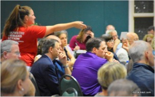 Moms Demand Action gathering written questions