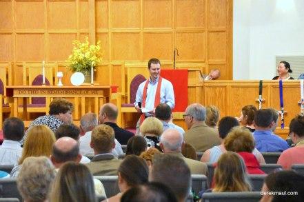 pastor John introducing confirmation