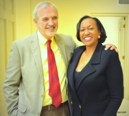 Exec Ted Churn and moderator Dr. Felicia Ward Hardy