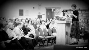 Rebekah preaching (file photo)