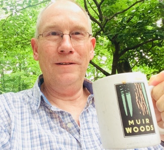 Derek Maul likes to ponder on his deck in North Carolina while drinking coffee