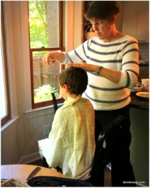 haircut with grandmama