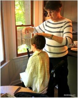 haircut with grandmama