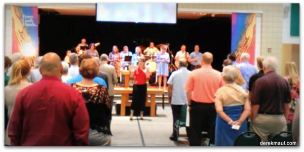 WFPC - benediction at Contemporary Worship