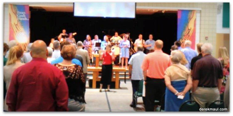 WFPC - benediction at Contemporary Worship