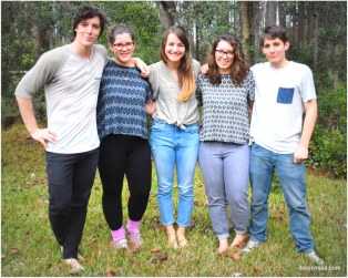 nieces and nephews - Jared, Sarah, Lindsay, Jordan, Seth