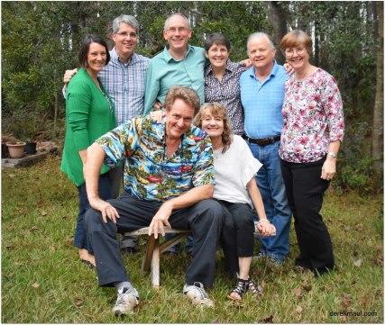 Alexander siblings with spouses (from back - Heather, Jesse, Derek, Rebekah, Tom, Rachel, Cheryl, Joe