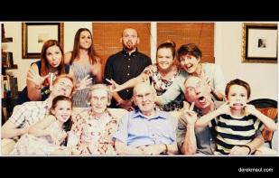 family at dad's 90th