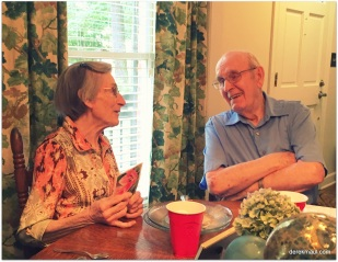 Grace and David at the 90th