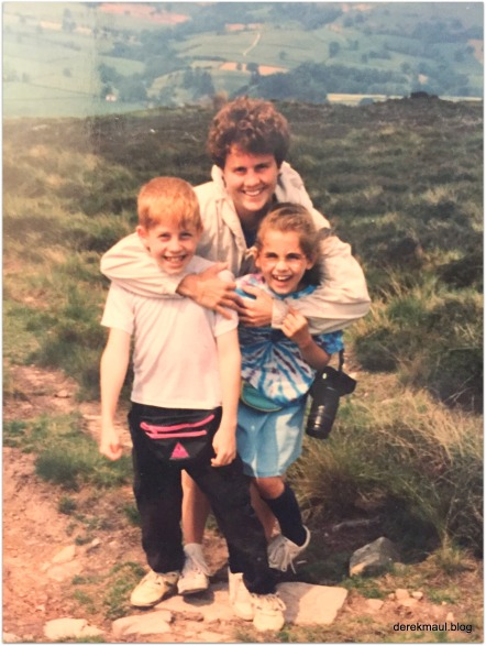 Margie with Andrew and Naomi - Yorkshire, 1992
