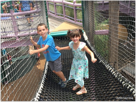 David and Beks - obstacle course