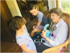 grand-mama and her ukulele