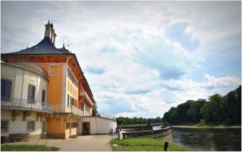 Elbe landing at rear of the palace