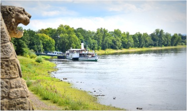 the Elbe retains much of its natural charm