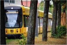 approaching tram