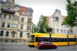 catch the tram right across from the aparment