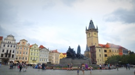 Old Town Square, Prague, momentarily cleared by rain