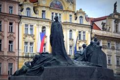 Jan Hus monument Old Town Square Prague