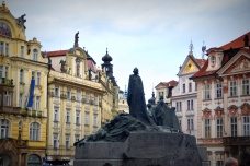 Jan Hus memorial Old Town Square Prague