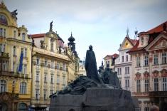 Jan Hus memorial Old Town Square Prague