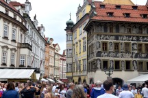 exiting Old Town Square Prague