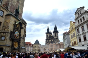 Clock and Old Town Square Prague