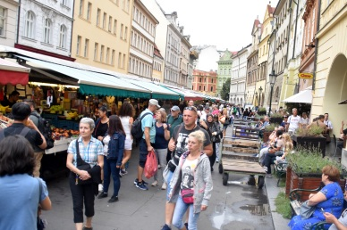 Street market Old Town Prague
