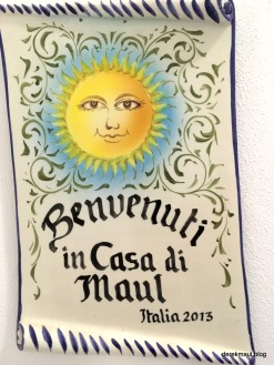 """their first apartment was in Italy. So home will always be """"Casa di Maul"""""""