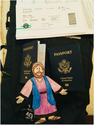 passport out and ready to go