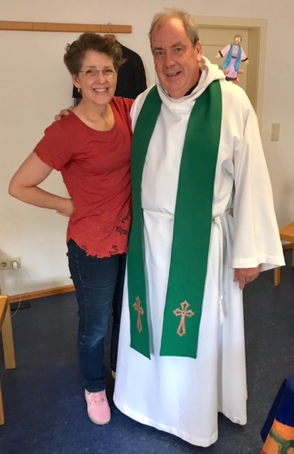 Rebekah (and Jesus) with Ricky (the Anglican Priest)