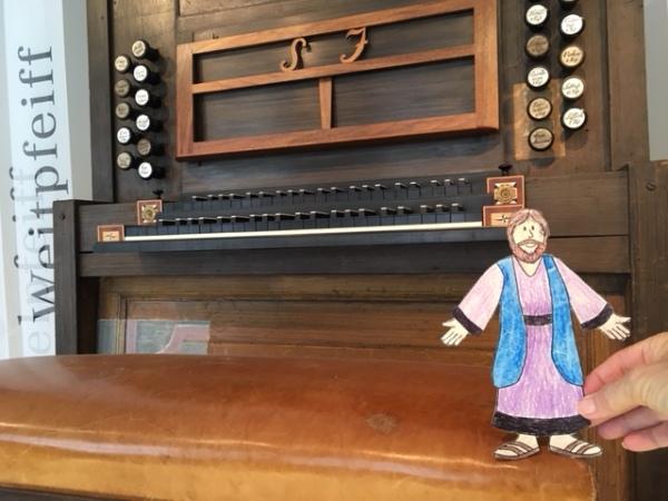 Leipzig - Jesus sits on Bach's organ stool