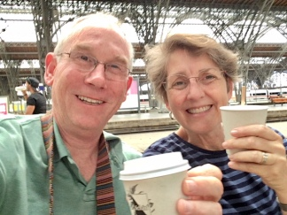 Leipzig - toasting the new baby Maul on our way to see him (he's ten minutes old....