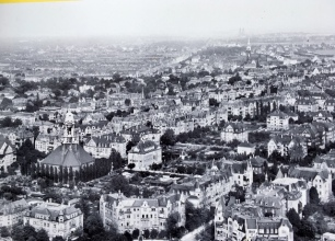 neighborhood prior to 1945 bombing