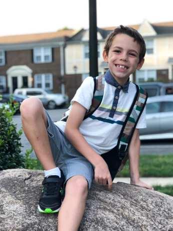 big second grade boy