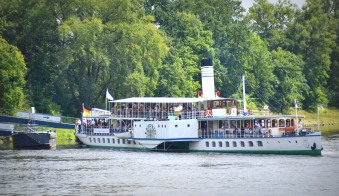river boat on the Elbe