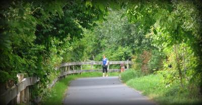 walk on Elbe River (bike path runs length of river in Germany)
