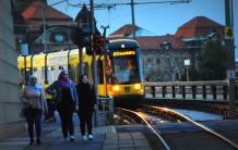 evening tram in Dresden