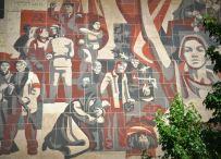 DDR era mural - Dresden