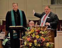 Smithfield's pastor introducing the moderator