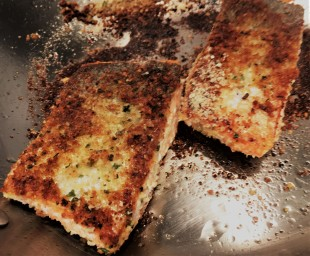 that salmon, by the way, was seared in the pan