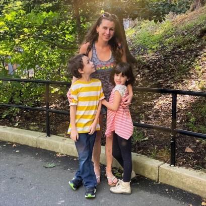 David and Beks with Naomi, at the Zoo